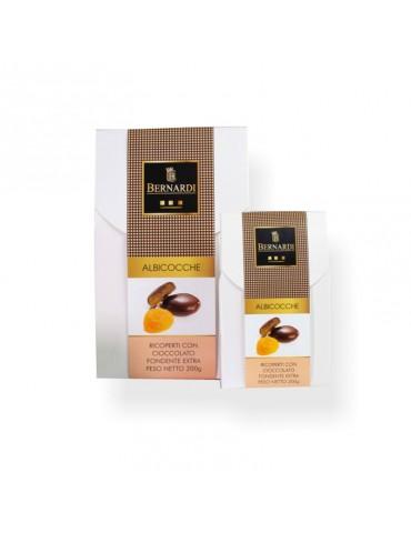 albicocche disidratate ricoperte di cioccolato