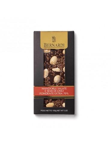 cioccolato fondente gourmet con mandorle