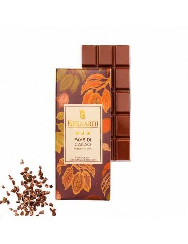 cioccolato con fave di cacao